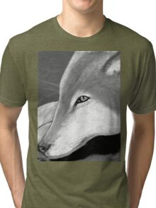 Lone Wolf T Shrit in black and white Tri-blend T-Shirt
