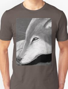 Lone Wolf T Shrit in black and white Unisex T-Shirt