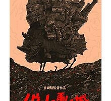 Howl's Moving Castle Original Poster by Abigail Kim