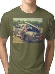 WWII Pinup Tri-blend T-Shirt
