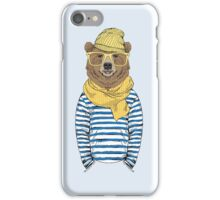 Funny bear dressed up in frock iPhone Case/Skin