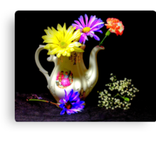 Another pitcher of flowers Canvas Print