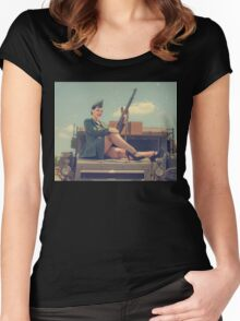 WWII Pinup Women's Fitted Scoop T-Shirt