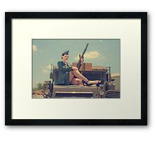 WWII Pinup Framed Print