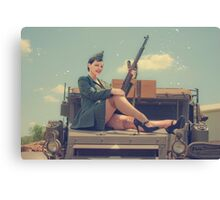 WWII Pinup Canvas Print