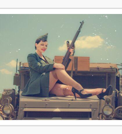 WWII Pinup Sticker