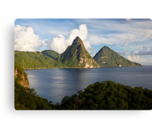 Pitons Bay Canvas Print