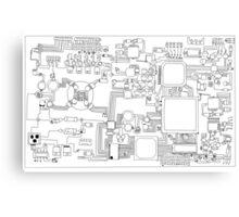 Circuit board. Canvas Print