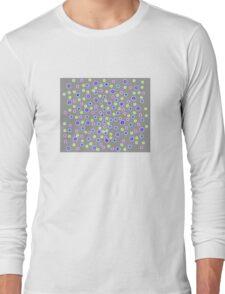 Dots on Gray Long Sleeve T-Shirt