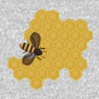 Honeybee on a Honeycomb by Sarah Countiss