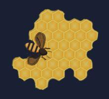 Honeybee on a Honeycomb Kids Tee