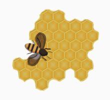 Honeybee on a Honeycomb One Piece - Short Sleeve