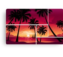 Vector Palm Tree design Canvas Print