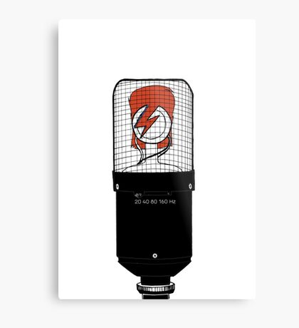 David Bowie: A Mic To Our Hearts Metal Print