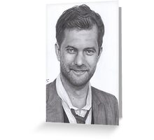 Joshua Jackson Greeting Card