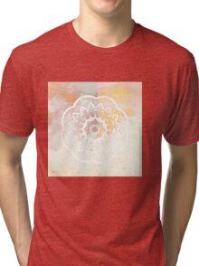 White mandala Tri-blend T-Shirt