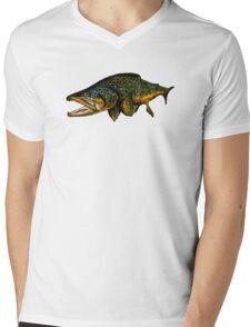 Brown Mens V-Neck T-Shirt