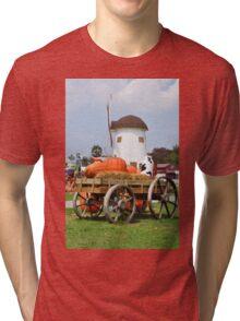 Vintage windmil in Cha Am,Thailand Tri-blend T-Shirt