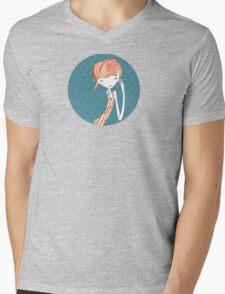 shy girl Mens V-Neck T-Shirt