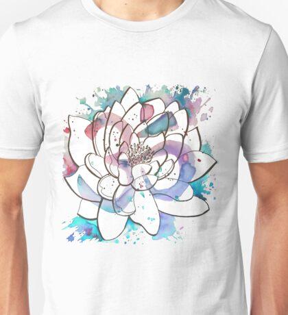 "Watercolor Lotus ""OM"" Unisex T-Shirt"