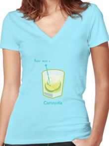 Make mine a Caipirinha Women's Fitted V-Neck T-Shirt