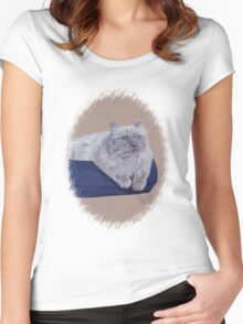 Bayou - A Portrait of a Himalayan Cat  Women's Fitted Scoop T-Shirt