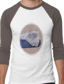 Bayou - A Portrait of a Himalayan Cat  Men's Baseball ¾ T-Shirt
