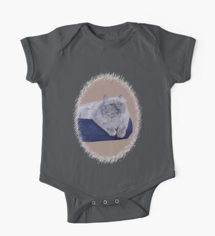 Bayou - A Portrait of a Himalayan Cat  One Piece - Short Sleeve