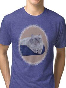 Bayou - A Portrait of a Himalayan Cat  Tri-blend T-Shirt