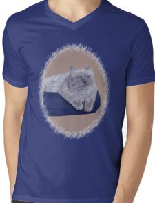 Bayou - A Portrait of a Himalayan Cat  Mens V-Neck T-Shirt