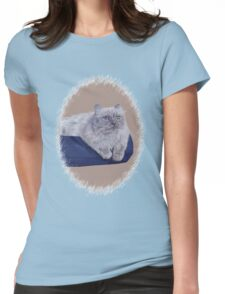 Bayou - A Portrait of a Himalayan Cat  Womens Fitted T-Shirt