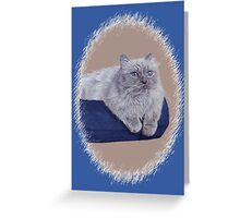 Bayou - A Portrait of a Himalayan Cat  Greeting Card