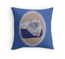 Bayou - A Portrait of a Himalayan Cat  Throw Pillow