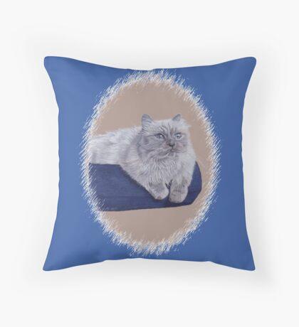 Bayou - A Portrait of a Himalayan Cat  Throw Pillow