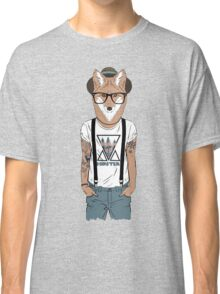 Fox hipster with tattoo Classic T-Shirt