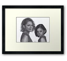 Kate and Lily Castle Framed Print
