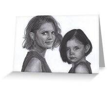 Kate and Lily Castle Greeting Card