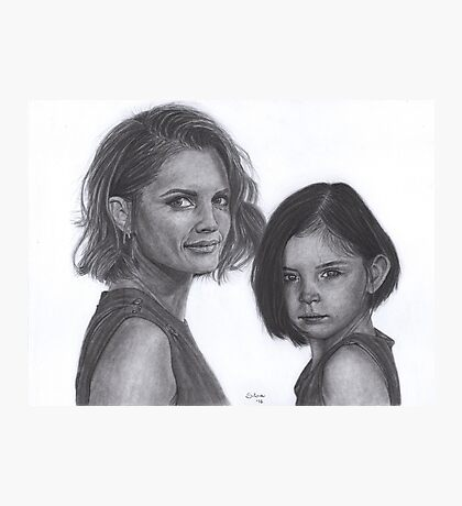 Kate and Lily Castle Photographic Print