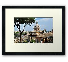 Forum Roman in Roma Italy Framed Print