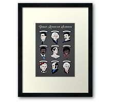 Great Minds of Science {Set} Framed Print