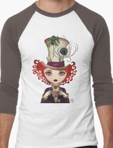 Lady Hatter Men's Baseball ¾ T-Shirt