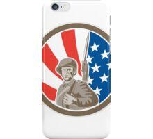 American Soldier Serviceman Bayonet Circle Retro iPhone Case/Skin