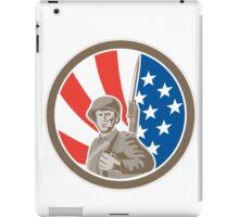 American Soldier Serviceman Bayonet Circle Retro iPad Case/Skin