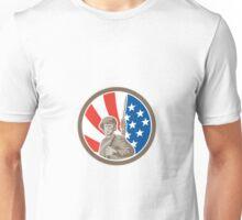 American Soldier Serviceman Bayonet Circle Retro Unisex T-Shirt