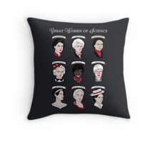 Great Women of Science {Set} Throw Pillow