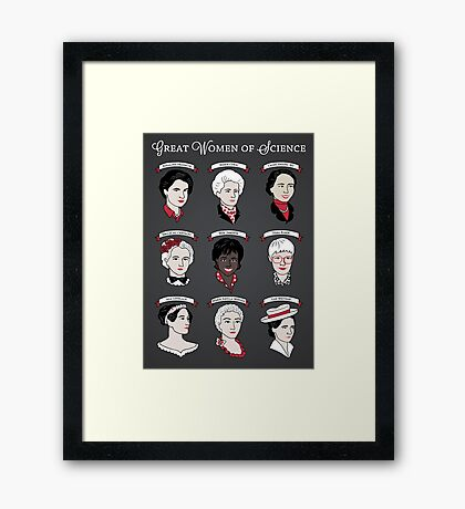 Great Women of Science {Set} Framed Print