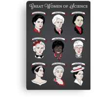 Great Women of Science {Set} Canvas Print
