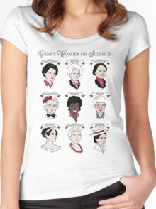 Great Women of Science {Set} Women's Fitted Scoop T-Shirt