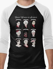Great Women of Science {Set} Men's Baseball ¾ T-Shirt