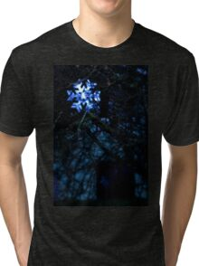 snowflake in blue Tri-blend T-Shirt